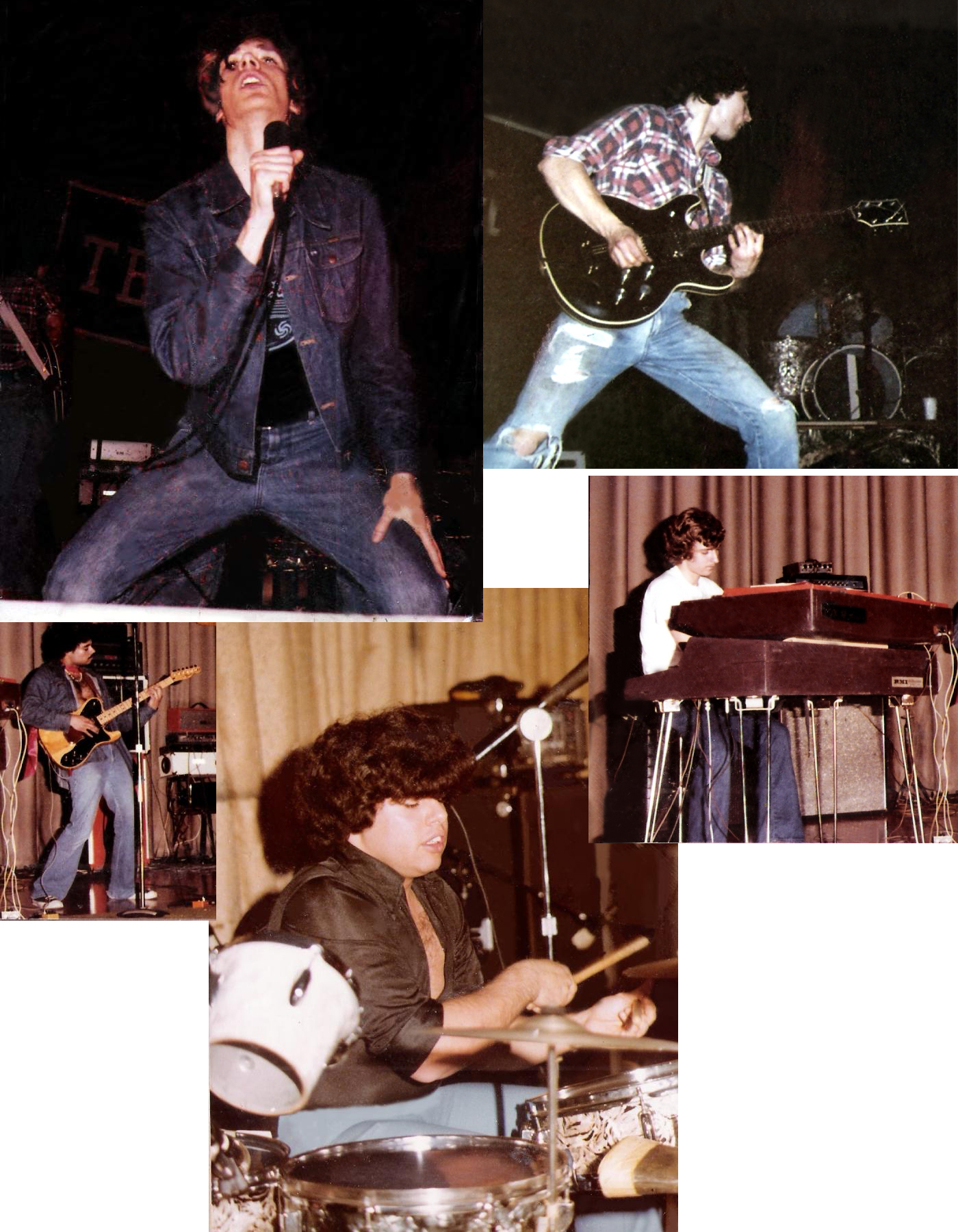 Parousia July 1977: Patrick Connolly. John McGovern, Barry Cannizzaro, Gerry Cannizzaro, Steve Soos