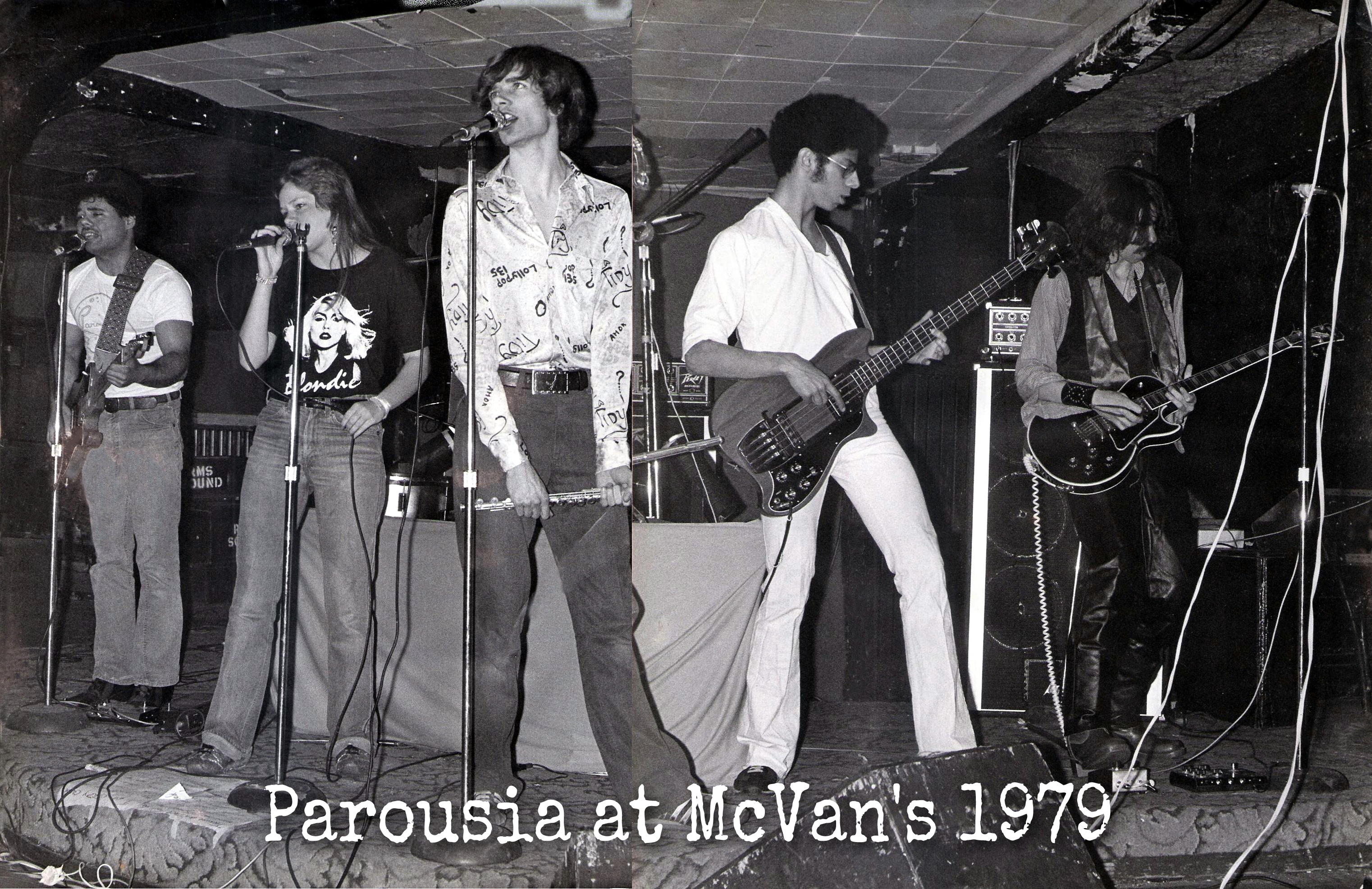 Parousia – a 'frequent flyer' at McVan's nite club 1978-1979