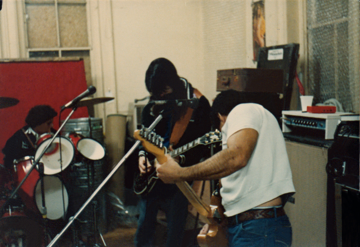 Gerry, Garth and Barry in the Music Mall 1981