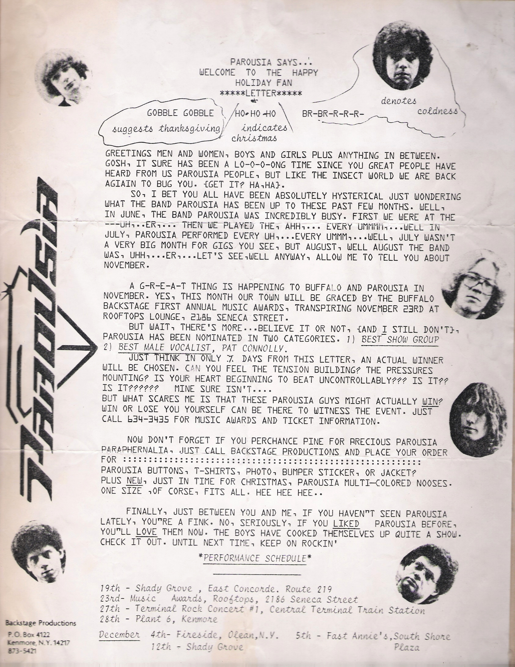 Parousia Newsletter November 1981