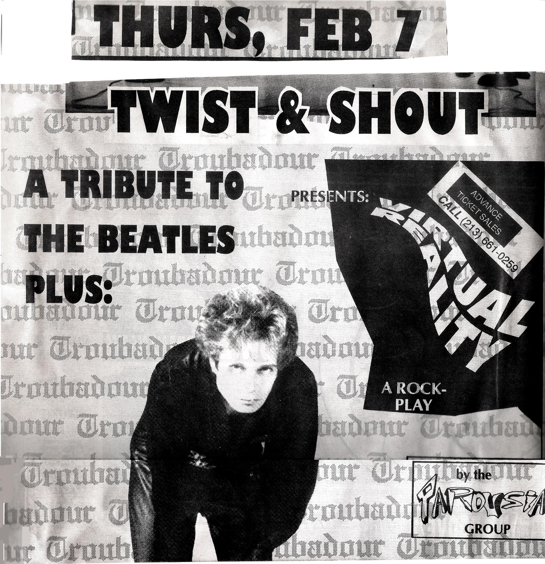 Parousia - Troubadour flyer 02.07.1991