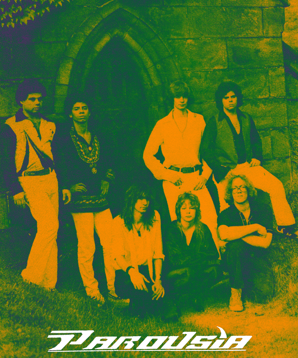 Parousia 1980: Barry Cannizzaro, Robert Lowden, Garth Huels, Kim Watts, Patrick Connolly, Eric Scheda, Gerry Cannizzaro