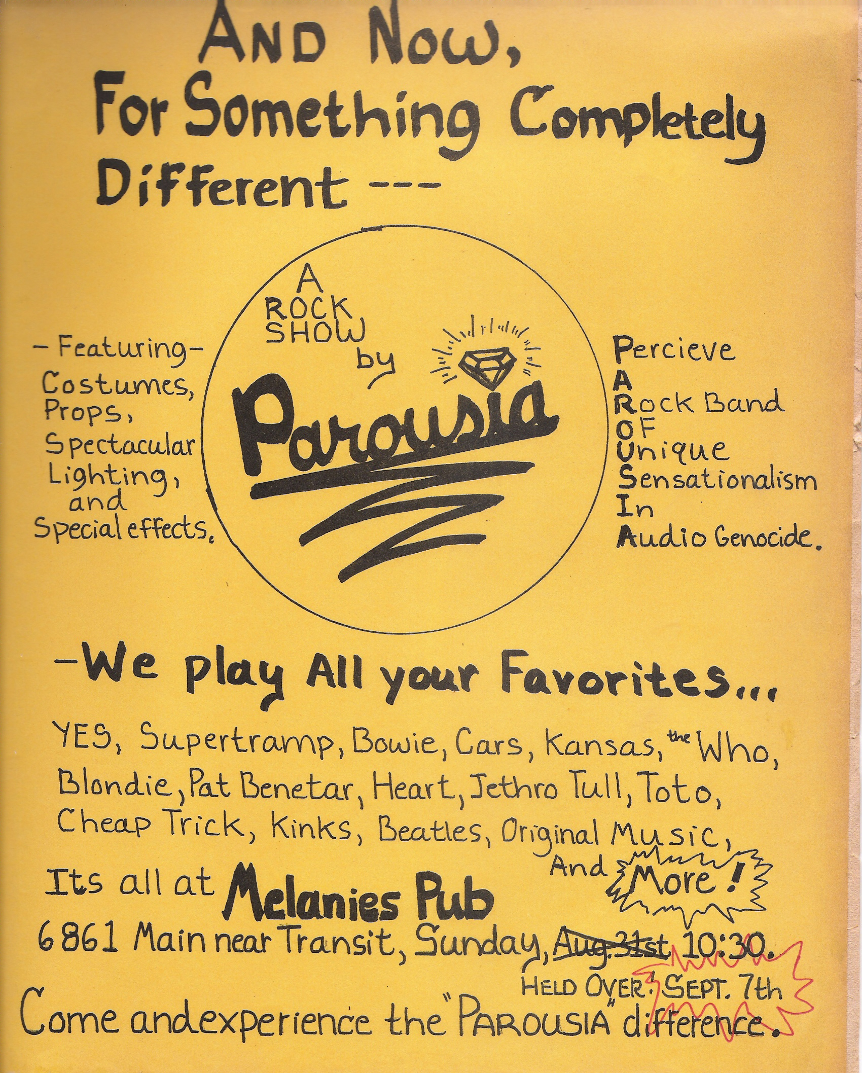 Parousia at Melanies 09.07.1980