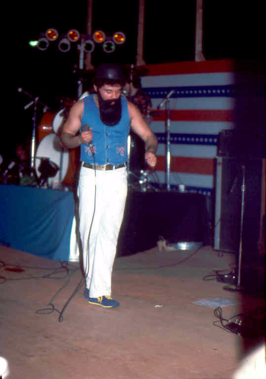 "Barry Cannizzaro as ""Ian Anderson"" of Jethro Tull"