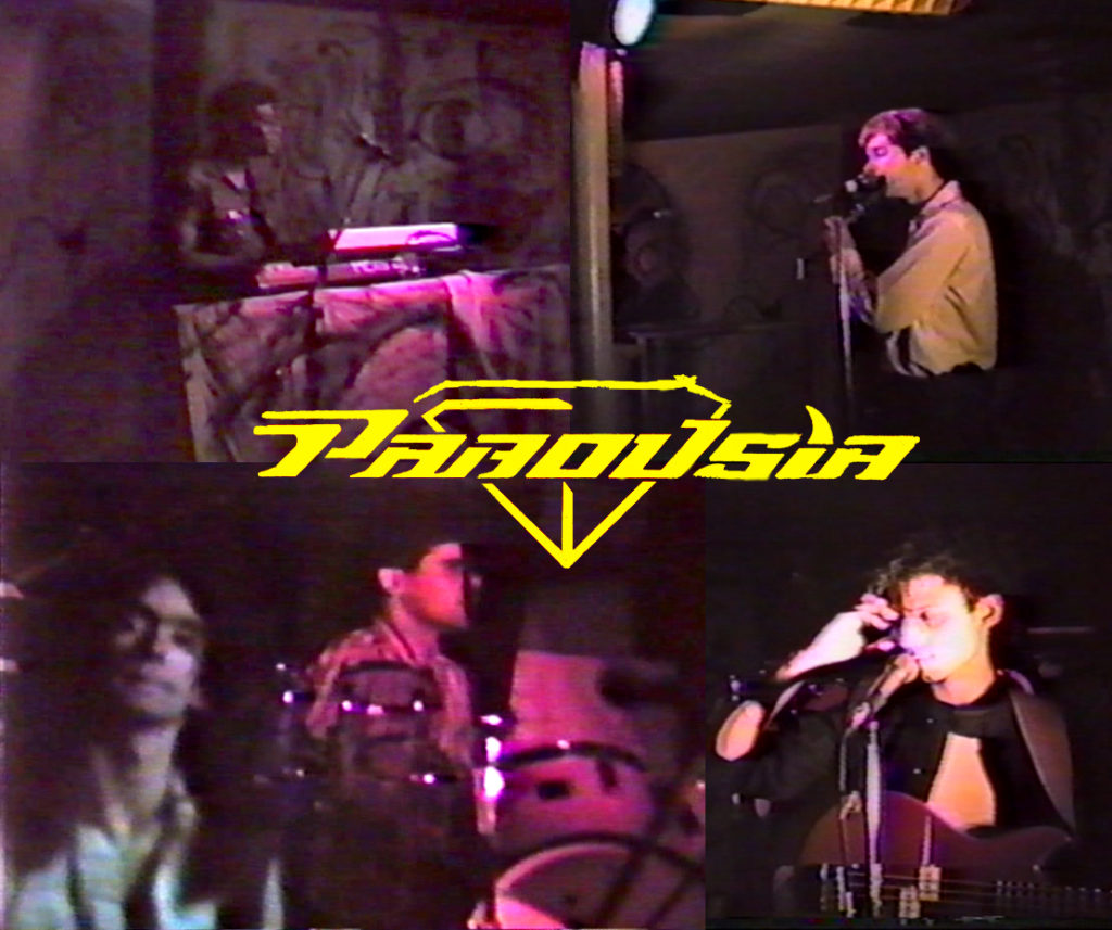 PAROUSIA live at The Chamber, 1660 Kenmore Avenue, Buffalo NY Bill Simms (keyboards), Patt Connolly (vocals/flute), Garth Huels (guitar/vocals), Gerry North Cannizzaro (drums), Robert Stuart Lowden (guitar/bass/vocals).