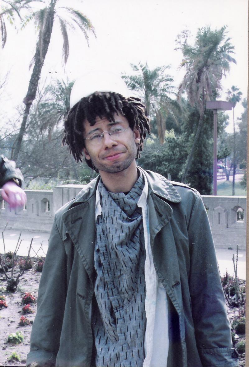 Robert Lowden with PAROUSIA at Mac Arthur Park, January 1989