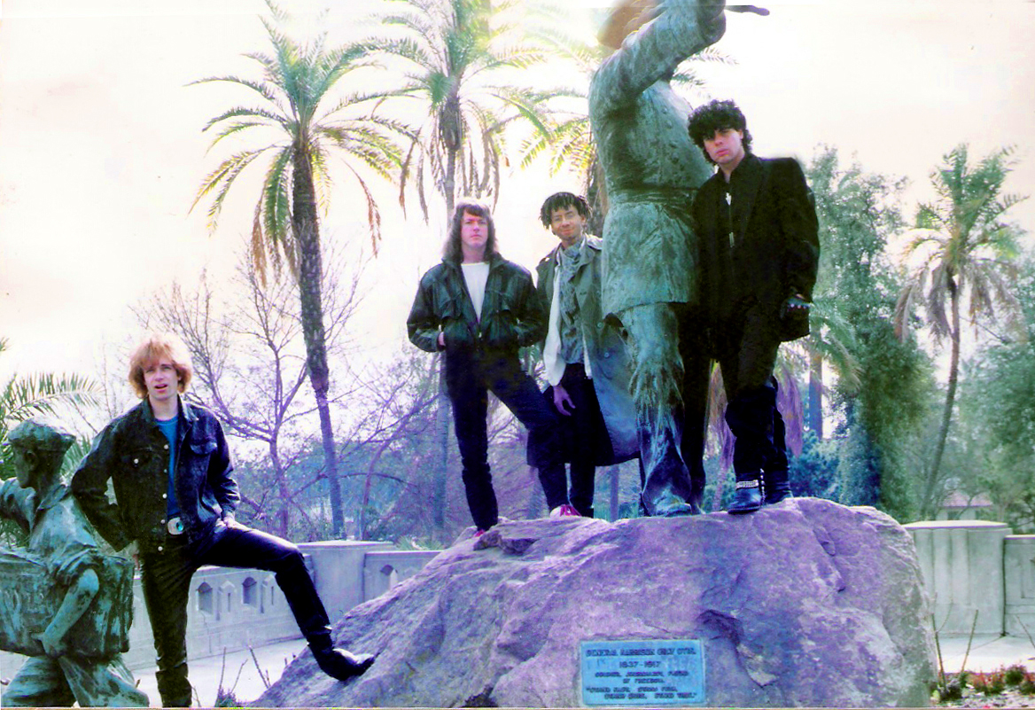 PAROUSIA December 1988: Patt Connolly, Marty Leggett, Robert Lowden and Gerry North Cannizzaro