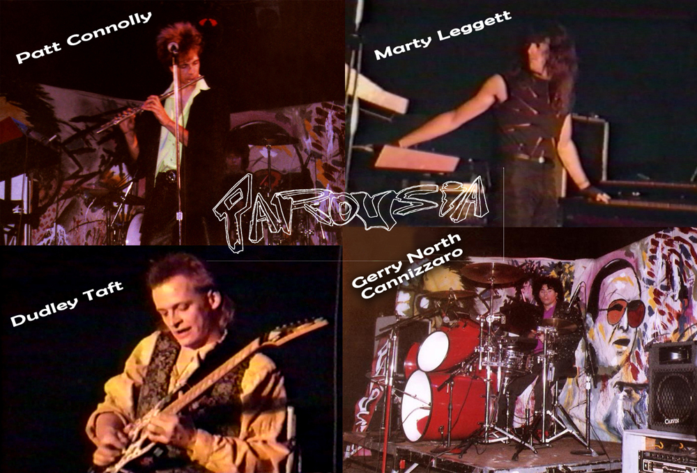 Parousia with guitarist Dudley Taft 1990