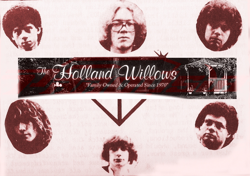 Parousia's Final show at the Holland Willows, August 21st, 1980. Robert, Eric, Gerry, Garth, Patt & Barry.