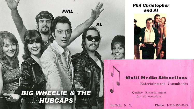 Phil Christopher with Big Wheelie & the Hubcaps - Our first booking agent with Multi-Media Attractions