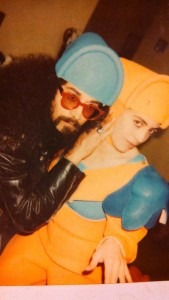 Posing with Faith No More guitarist Jim Martin when we worked on the Bill and Teds Bogus Journey Movie
