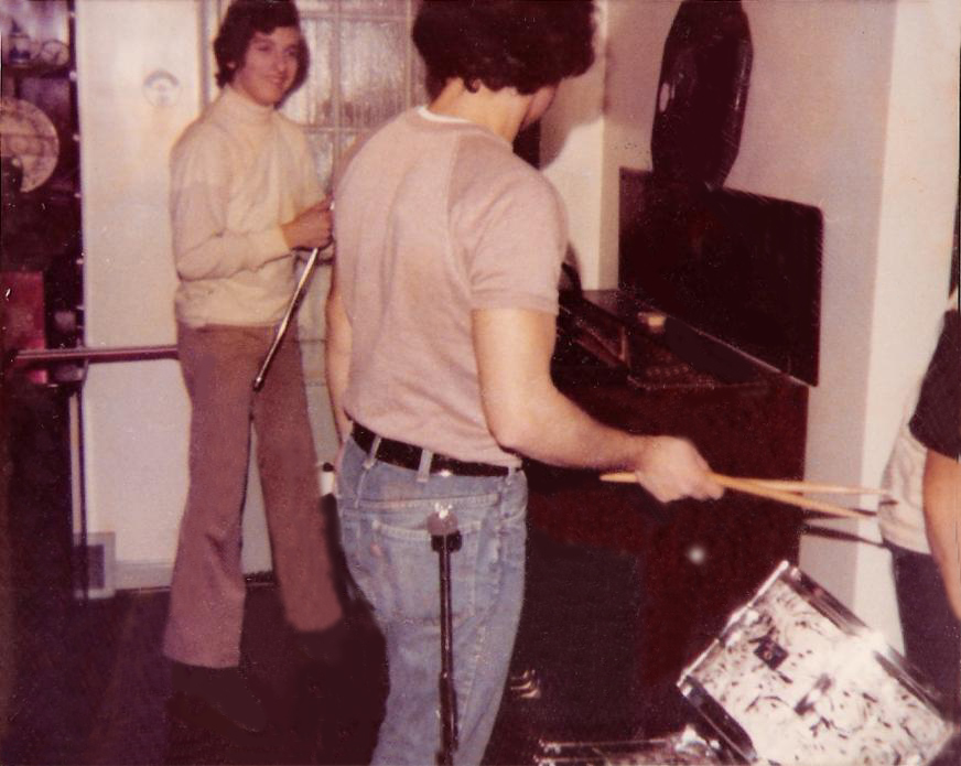 Practice at Mike Newell's house Dec 17th 1975