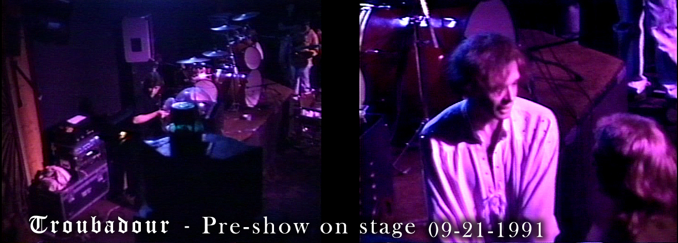 Pre-show onstage