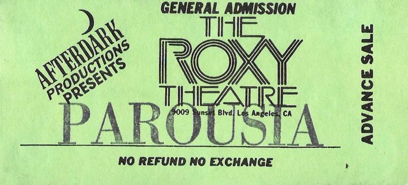 Roxy June 4th 1989