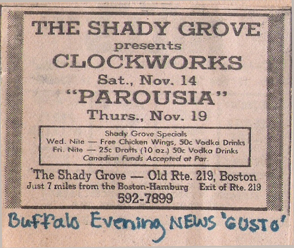 Shady Grove 11.19.1981