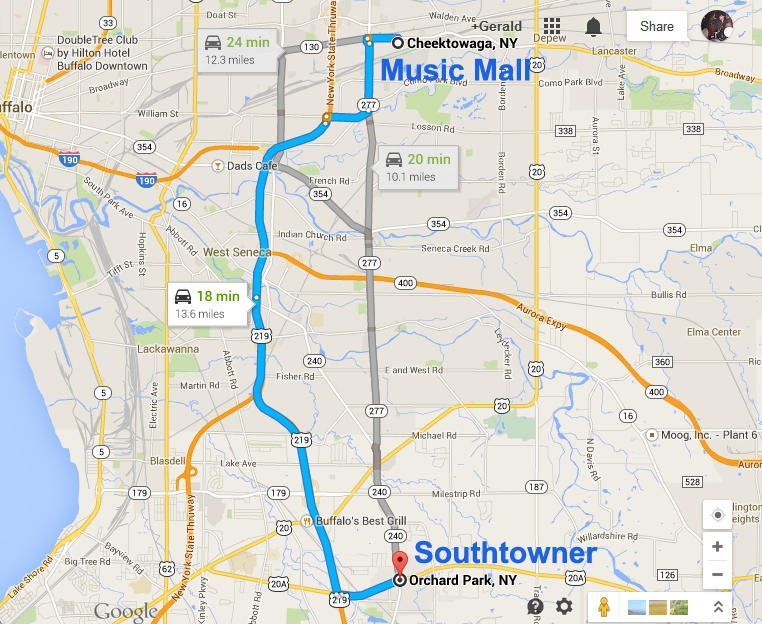 Southtowner Map