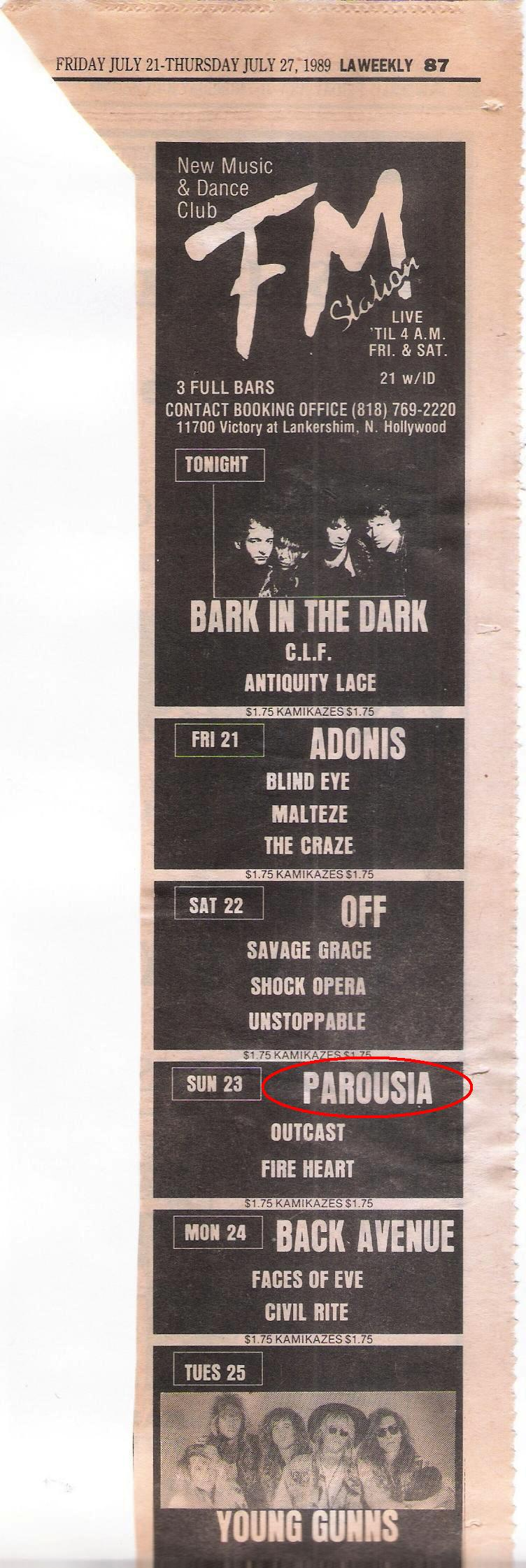 L.A. Weekly Music section, July 20-25, 1989