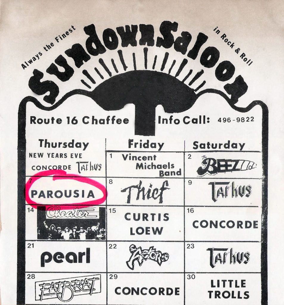 Sundown Saloon advertisement in Buffalo Backstage Magazine, January 1982