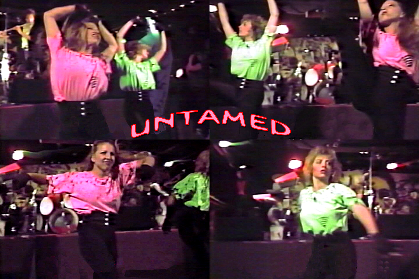 "Claudine Regian and Susan Castang of 'Untamed' performing to ""Tug Of War"", 1989"