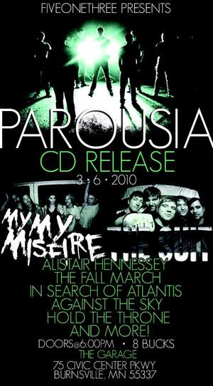 March 06, 2010 PAROUSIA CD release party, Burnsville, MN