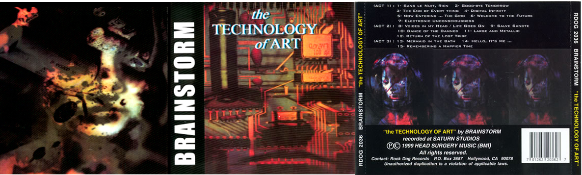 "BRAINSTORM #3: ""The Technology Of Art"" released 2000 on the Rock Dog Records label, Hollywood, CA."