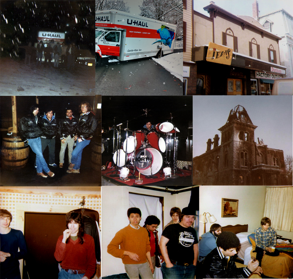 "Parousia's ill-fated road trip to ""The Texas"" club, Burlington, Vermont. February 1982"