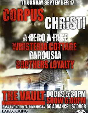 Sept. 17, 2009 Parousia at the Vault, Buffalo, MN