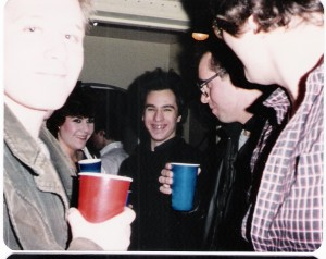 Tom Holden, Anne Carncross, Mark Sparcio, Leon Koslowski & John Horvath. Dec. 1984