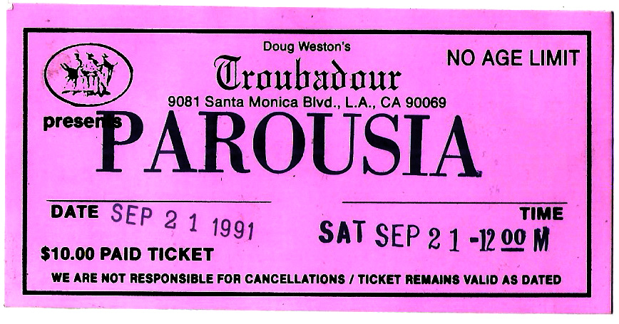 Doug Weston's Troubadour presents PAROUSIA