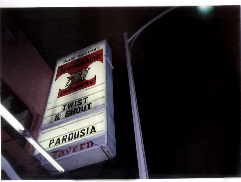02.07.1991 Troubadour Marquee Twist & Shout plus PAROUSIA