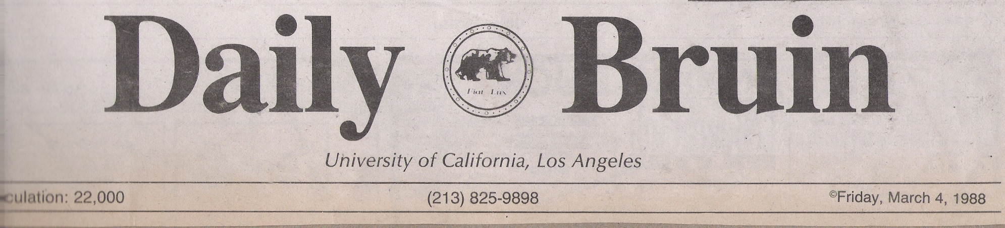 UCLA Daily Bruin March 4, 1988