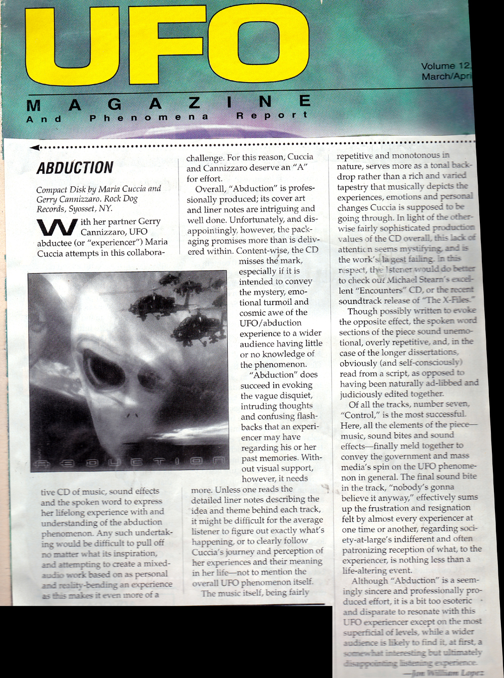 UFO Magazine. March.April 1997
