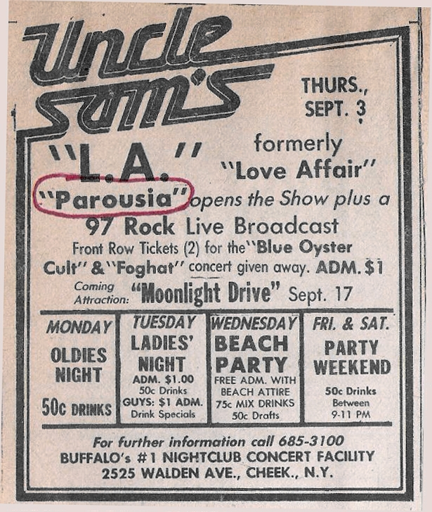 Uncle Sams Live Broadcast Gusto Ad Thurs. 09.03.81