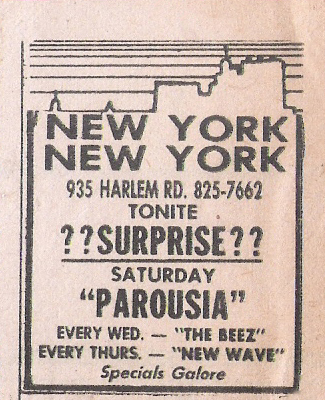Saturday Special: Parousia at New York New York, August 22, 1981