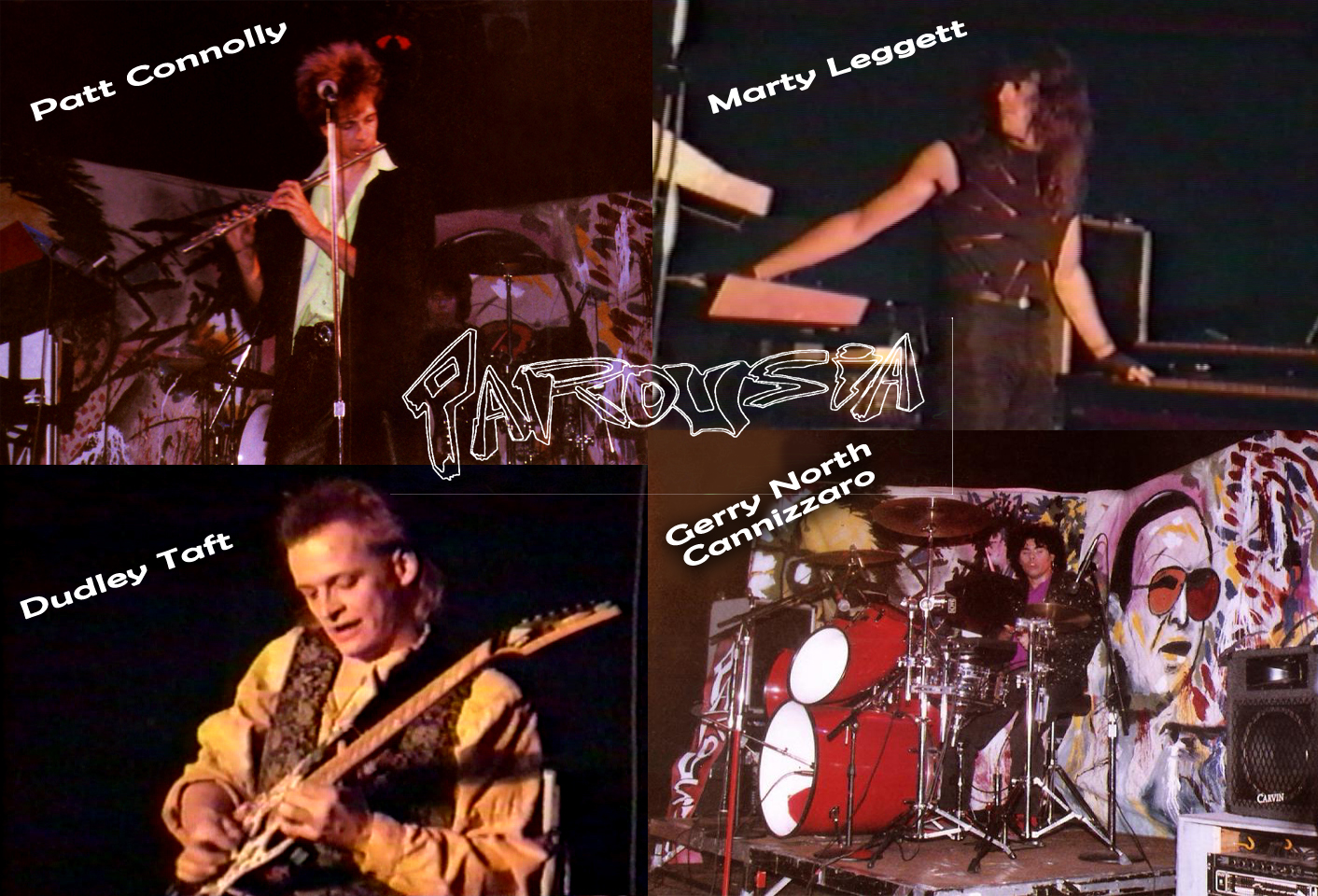 Parousia 1990: Patt Connolly, Marty Leggett, Dudley Taft and Gerry North Cannizzaro