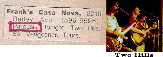 Parousia - Friday, October 5, 1979 and Two Hills - Saturday, October 6, 1979