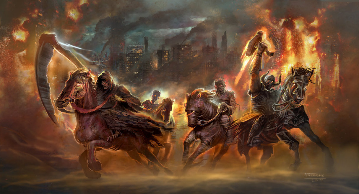 The Four Horsemen of the Apocalypse by matchack