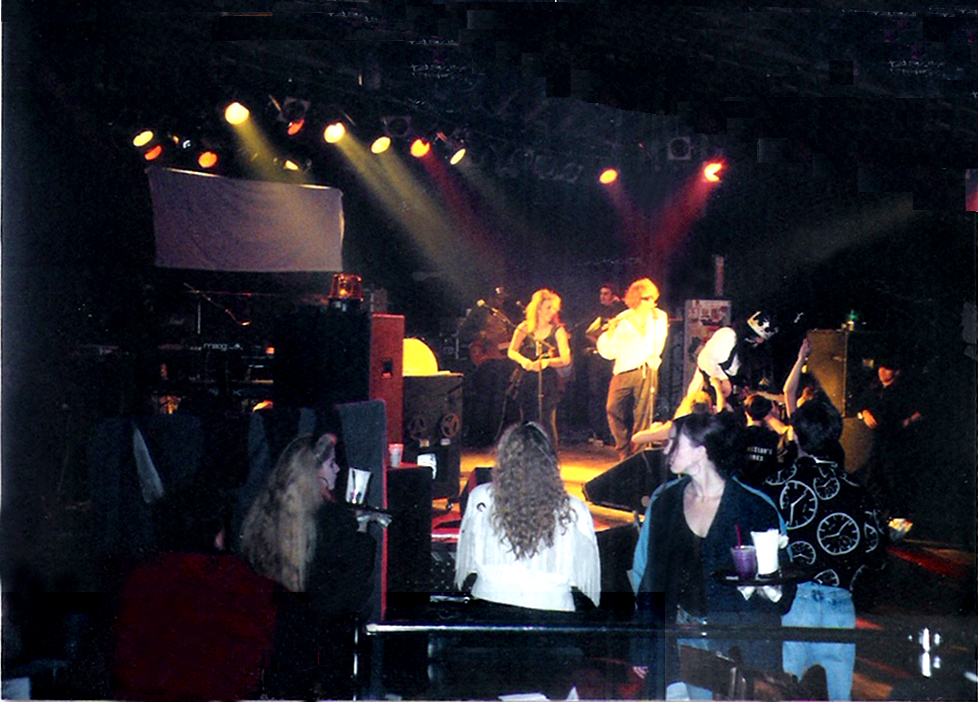 "Patrons watching the last show from ""ringside"" seats at the ROXY. January 9. 1992"