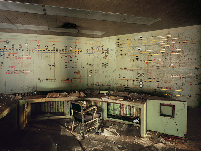 Former Nasa Headquarters? No, present day control room at the Bethlehem Lackawanna Plant.