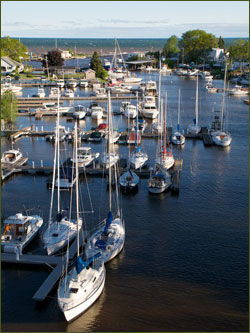 Olcott Harbor, home of the 3 hour tour
