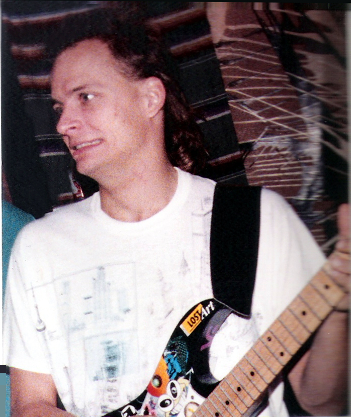Dudley Taft with his special Fender Stratocaster.