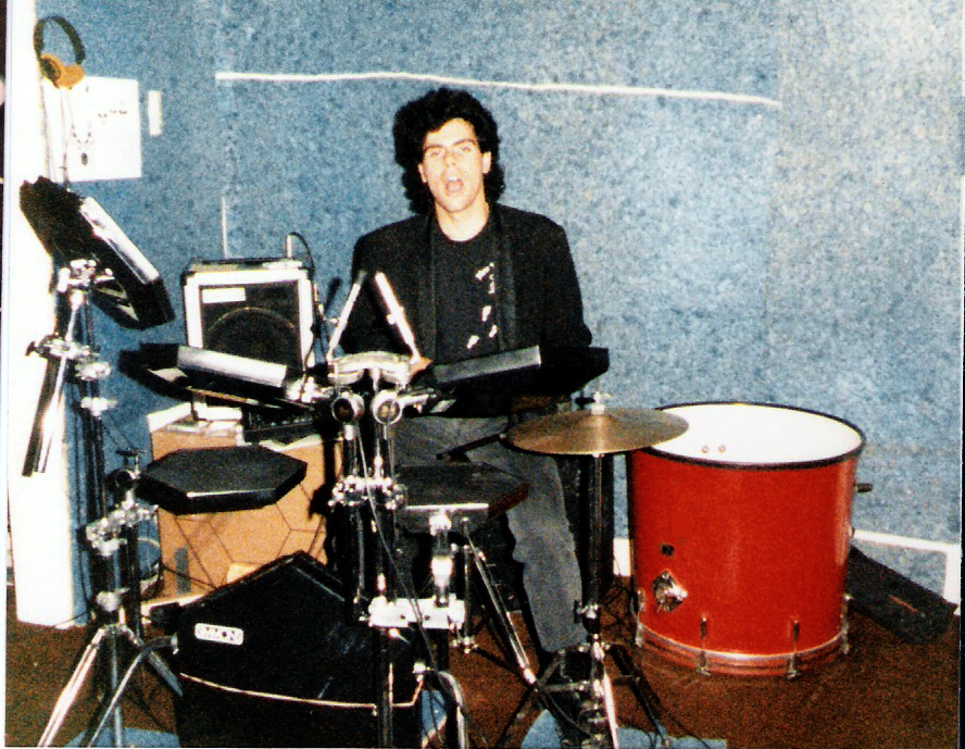 Gerry North and his Simmons SDS9 / North drum kit hybrid