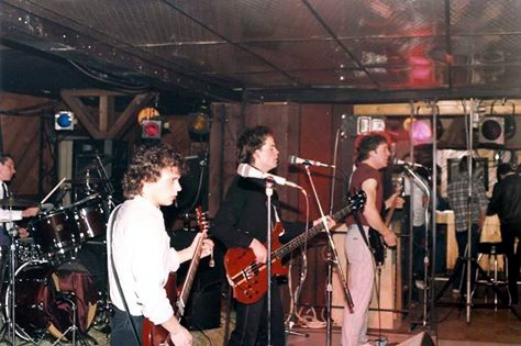"The band ""Stiff Mitten"" at New York New York, 1981"