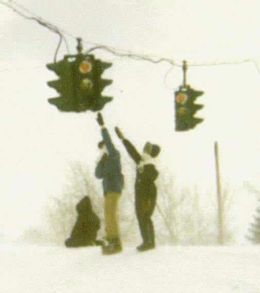 Buffalo Blizzard of 1977 - The snow banks were so high you could touch the street lights.