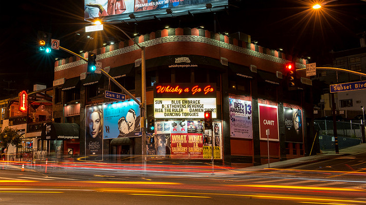 The Whisky a-Go-Go on the Sunset Strip in West Hollywood, CA